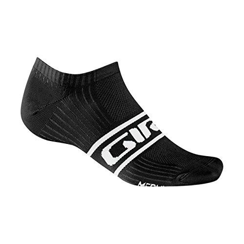 Mens Classic Racer (Giro GE20120 Mens Classic Racer Low Socks, Black/White - L)