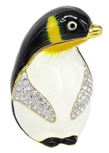 RUCINNI Penguin Jeweled Trinket Box with Swarovski Crystals