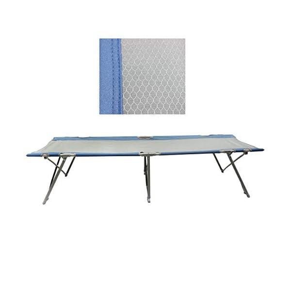Homecall Letto pieghevole da campeggio colore grigio/blu 6 spesavip