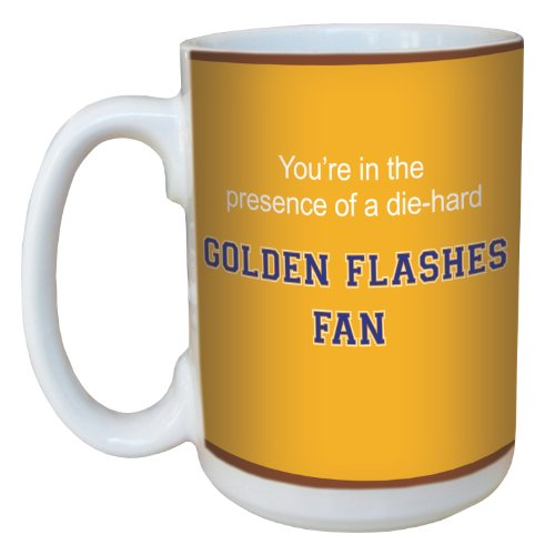 Golden Flashes Basketball - Tree-Free Greetings lm44752 Golden Flashes College Basketball Ceramic Mug with Full-Sized Handle, 15-Ounce