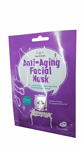 3 Mask Sheets of Cettua Clean & Simple Anti-Aging Facial Mask.
