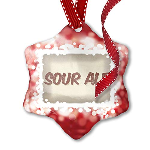 (NEONBLOND Christmas Ornament Sour ale Beer, Vintage style,)