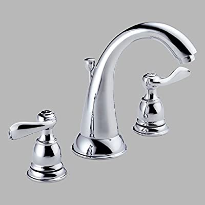 Delta Windemere B3596LF Double Handle Widespread Bathroom Sink Faucet