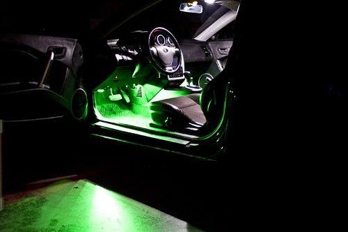 1996-2014 Honda Civic Sedan Footwell LED Kit, Green