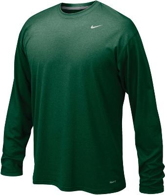 Nike Dk Green Legend Long Sleeve Performance Shirt , Small by Nike (Image #1)