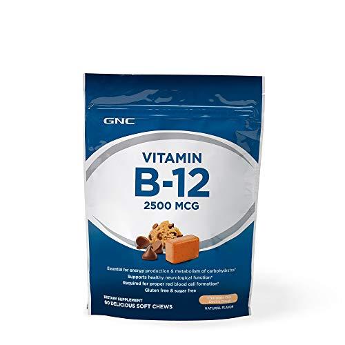 GNC Vitamin B12 chew 2500 MCG Chocolate Chip Cookie Dough 60 Chews ()