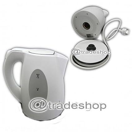 tradeshoptraesio® – Hervidor sin cable hilo Cordless calienta agua para infusiones bebidas 2200 W 1.5