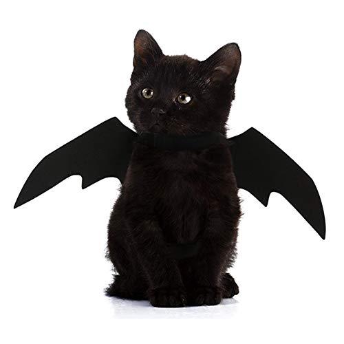 ZAILHWK Pet Cat Bat,Cat Halloween Costume Bat Wings Cosplay Dress Up Pet Cat for Halloween and Christmas Festival -