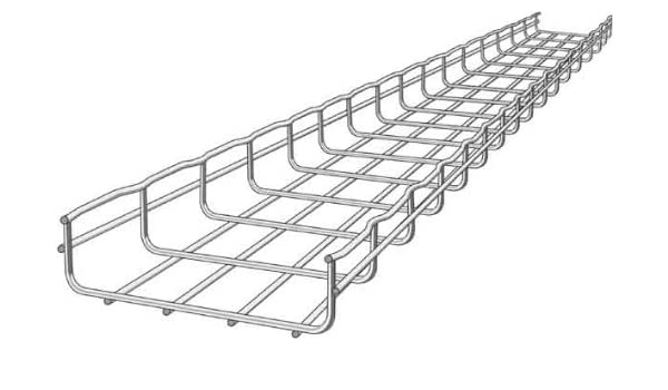 Wire Cable Tray | Wire Mesh Cable Tray 8x2in 10 Ft Amazon Com Industrial Scientific
