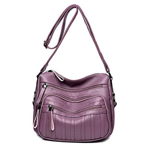 In Pu Grande color A Purple Donne Tracolla Per Capacità Quadrato Borsa Con Igspfbjn Wine Red IqcCUwZT4
