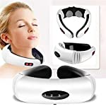 Lging Electric Pulse Back and Neck Massager Far Infrared Heating Pain Relief Health Care Relaxation Tool Intelligent Cervical Massager