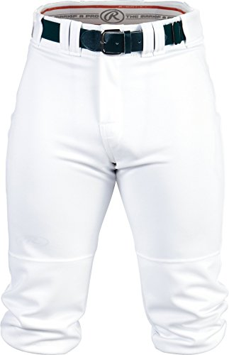 -High Pants, Medium, White (Knee Length Baseball Pants)