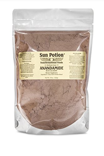 Cheap Organic Anandamide 222g by Sun Potion – Raw Unsweetened Cacao Powder and Tonic Herbs – Includes Tocos Ashwagandha Reishi Maca Moringa Turmeric Astragalus Cayenne Cinnamon and Others