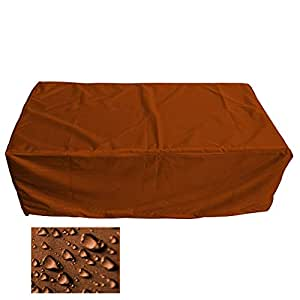 Muebles de Jardín Premium Funda Protectora/mesa de jardín Lona B 130cm x t 85cm x h 35cm Naranja