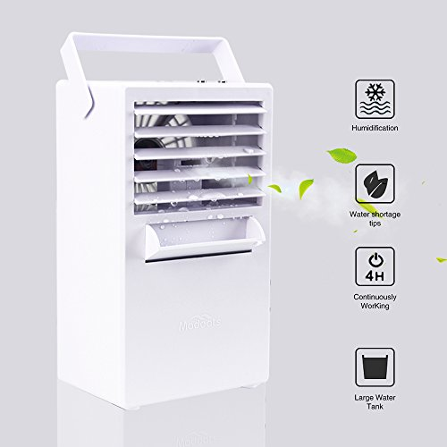 NEW VIEW Personal Misting Fan 9.5-inch Portable Air Conditioner Fan Small Table Fan Desktop Fan Mini Evaporative Air Cooler Humidifier (White) by NEW VIEW