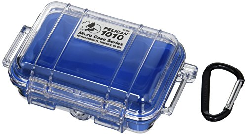 Waterproof Case | Pelican 1010 Micro Case - for Cell Phone, GoPro, Camera, and More - Blue Case Pelican Micro