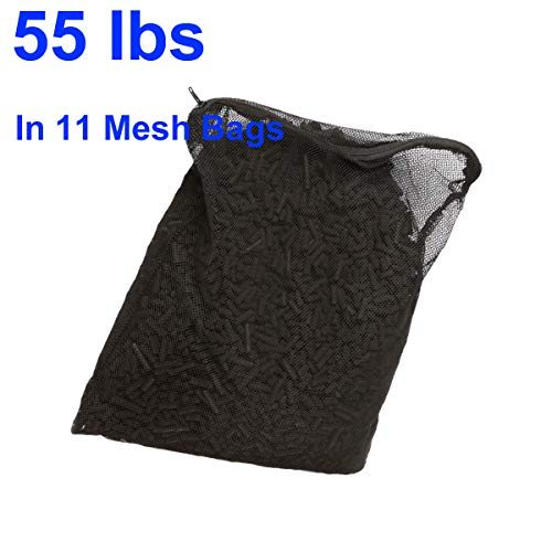 Aquaneat Activated Carbon for Aquarium Canister Filter Fish Koi Pond in Free Mesh Media Bags (55 lbs, 11 Bags) ()