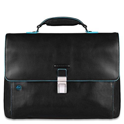 - Piquadro Blue Square expandable computer portfolio briefcase - CA3111B2 (Black)