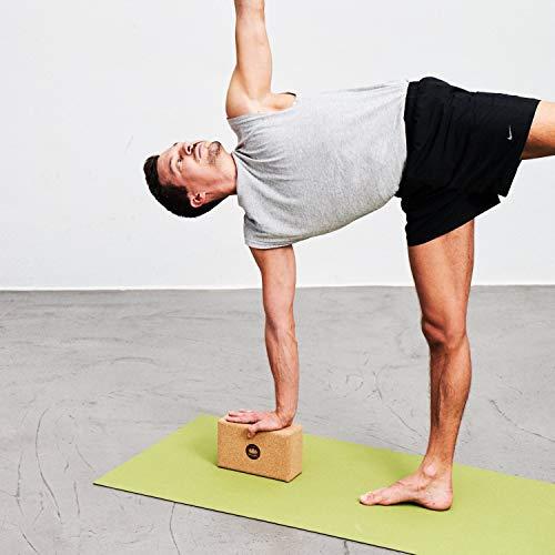 Lotuscrafts Bloque Yoga Corcho Supra Grip - Corcho Natural de Portugal - Fabricación Ecológica - Ladrillo Yoga - Tacos Yoga - Bloque para Yoga - Yoga ...