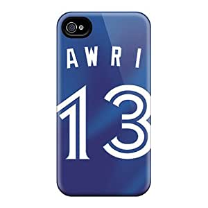 Iphone 4/4s Cases Covers - Slim Fit Protector Shock Absorbent Cases (toronto Blue Jays)