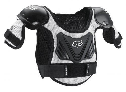 Fox Racing Titan Kids Roost Deflector Black/Silver MD/LG Ages 6-9 COMINU051590