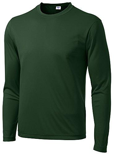 9856919d54cf6 Opna Men's Long Sleeve Moisture Wicking Athletic ShirtsRGRN-M Forest Green