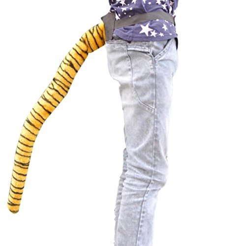 Alias Costume Party (Shybuy Halloween Costume Dancing Simulation Wacky Animal Long Tail Party Prop Tiger Tail 25'' Inch)