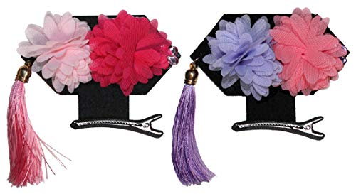 Chinese Flower Girls Headpiece Hairpins, 2 PC Princess Mini Costume Hat & Hair Decoration -