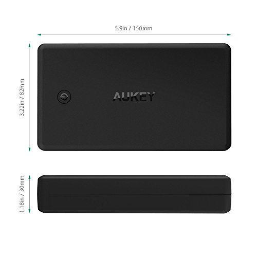 AUKEY 26500mAh handheld Charger having rapid demand 30 energy Bank Lightning Micro USB feedback Battery Pack for Nintendo Switch iPhone 8 and much more International Chargers