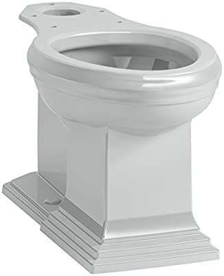 KOHLER K-5626-95 Memoirs Comfort Height Elongated Toilet Bowl with Concealed Trap Way, Ice Grey