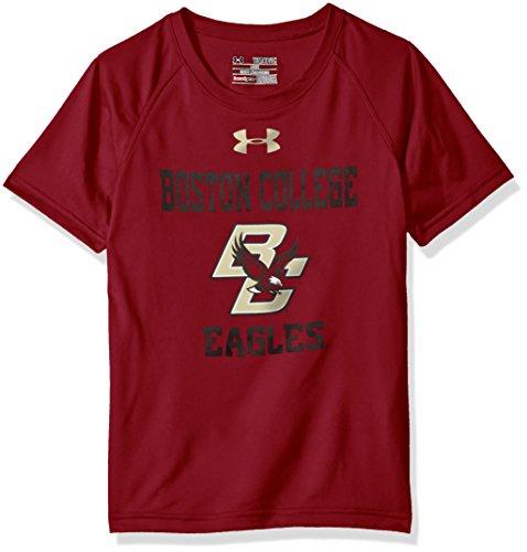 (Under Armour NCAA Boston College Eagles Youth Short Sleeve Tech Tee, Small, Cardinal)