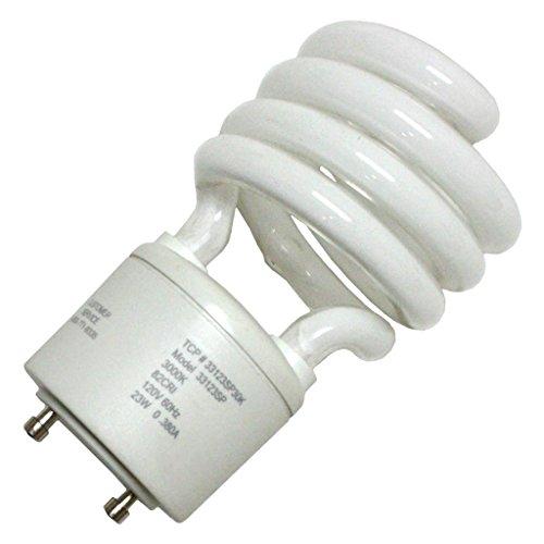 Compact Base 3000k Twist Medium - TCP CFL Spring Lamp, 100W Equivalent, Soft/Warm White (3000K) General Purpose Spiral Light Bulb - GU24 Base