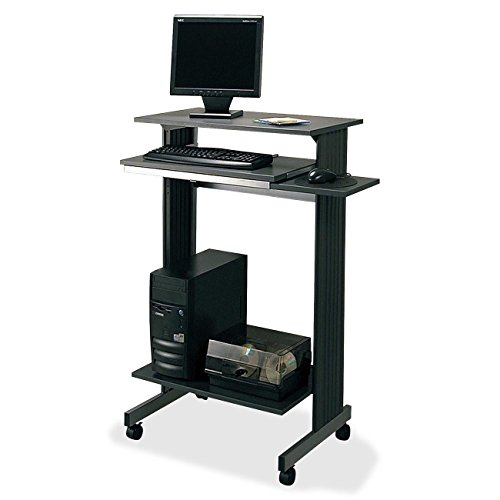 Buddy Euroflex Stand Up Height Fixed Workstation - 29.50'' x 19.62'' x 44.3'' - Steel - Charcoal Gray by Buddy Products