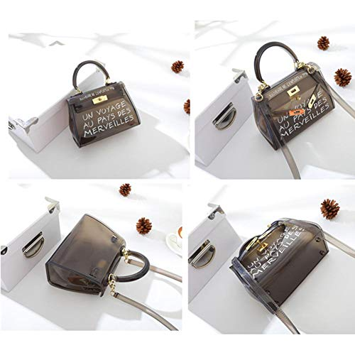 pour sacs noirs voyage en Bagages PVC de Niyin204 de gelée gIvftWxq