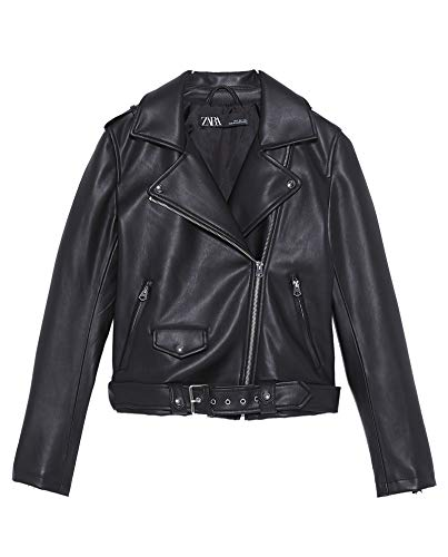 Zara Women Faux Leather Jacket 3046/043 (Small) Black for sale  Delivered anywhere in USA