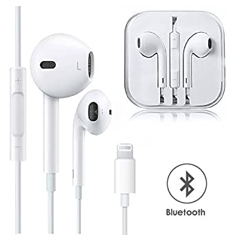 Earphones, with Microphone Earbuds Stereo Headphones and Noise Isolating Headset Made Compatible with iPhone Xs/iPhone XR/iPhone X/iPhone 7/iPhone 8 (Bluetooth Connectivity) Earphones VOWSVOWS SB-520