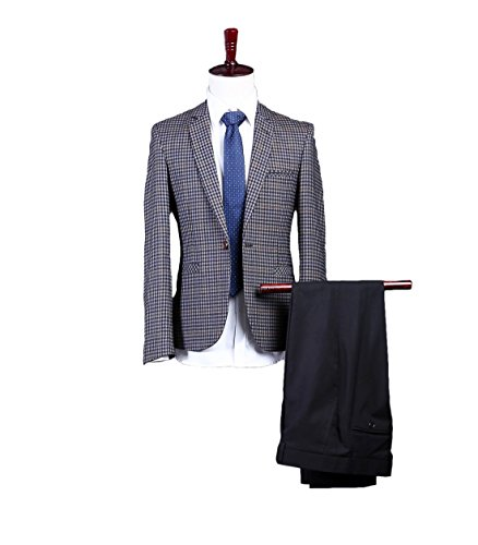 AK Beauty Men's Three Piece Formal Suit Includes Jacket,Pants And Tie S