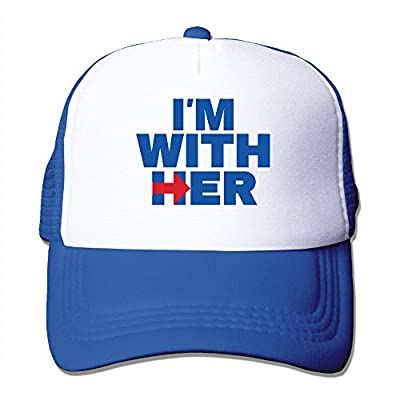 I'M With Her Hillary Cool Funny Graphic Casual Trucker Cap Mesh Hat