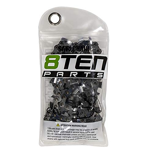 8TEN Chainsaw Chain 16'' .050 3/8 60DL Echo for Stihl Husqvarna 455 Rancher H47 33RS Replaces 72LPX60CQ 501842660
