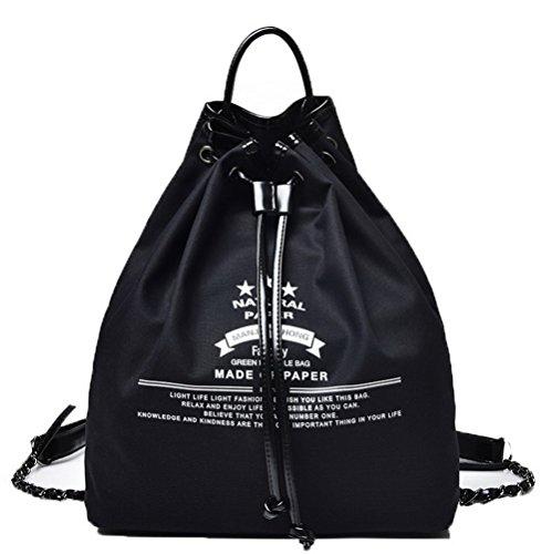 Stitching Mode AgooLar Contrast bandoulière à Toile Noir Sacs Sacs Femme Voyage rrpqXa