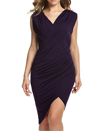 ANGVNS Sleeveless Cocktail Bodycon Dresses