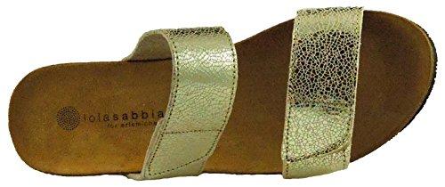 Eric Michael Mujeres Liat Sandal Gold Metallic