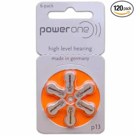 Power One Size 13 Hearing Aid Batteries (120)