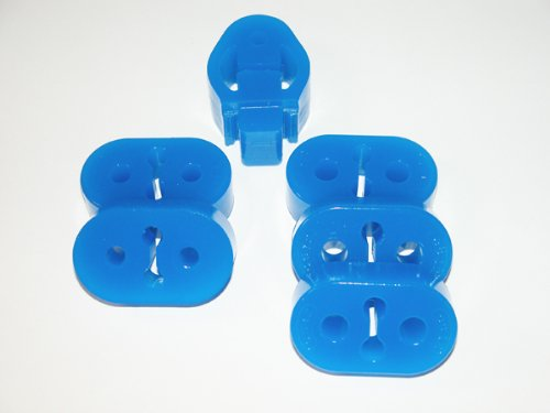 - CORKSPORT 2010+ Mazdaspeed 3, Mazda 3 - Dual Exit Exhaust Hangers - Blue (Axl-6-087-10)