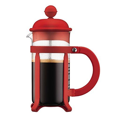Bodum - 1903-294 - Java - Cafetera 3 Tazas - 0.35 l - Color Rojo