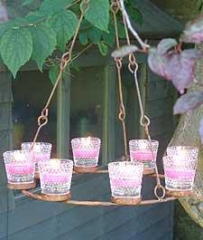 Hanging tea light chandelier amazon kitchen home hanging tea light chandelier aloadofball Gallery