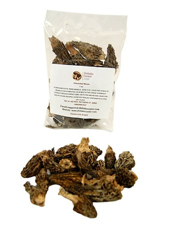 Dried Morel Mushrooms - 1 Oz. Bag - Dehydrated Edible Gourmet Yellow Morchella Esculenta Fungi: AKA Sponge ()