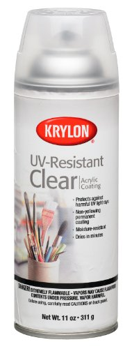 (Krylon K01305 Gallery Series Artist and Clear Coatings Aerosol, 11-Ounce, UV-Resistant Clear Gloss)