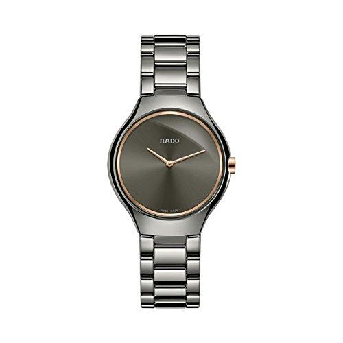 Rado True Thinline Black Dial Ceramic Ladies Watch R27956132