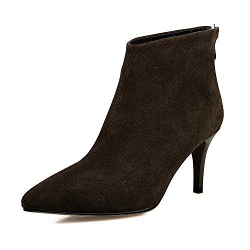 Womens Boots Comfort Green Closure Microfiber No Solid BalaMasa 4RPSqdw4